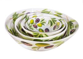 GB013 Organische schaal olijf, mini