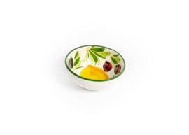 GR62 Schaaltje rond citroen/olijf 13cm