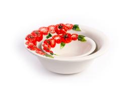 P031 Ronde diepe schaal tomaat, medium