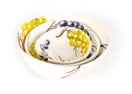 EW42-20 Organische schaal druiven 20cm NIEUW