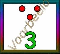 3 stippen