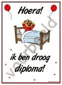 Droog in bed - Diploma