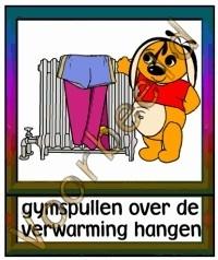 Gymspullen over de verwarming hangen - TK
