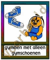 Gymmen met alleen gymschoenen - KL