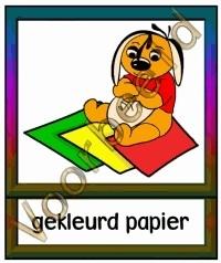 Gekleurd papier - WERKMAT