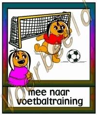 Mee naar voetbaltraining