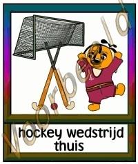 Hockey wedstrijd thuis