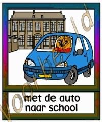 Met de auto naar school 1 - SCH