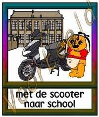 Met de scooter naar school - SCH