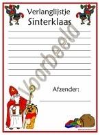 Verlanglijstje - Sinterklaas 3