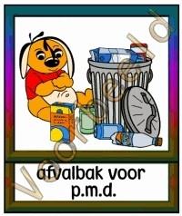 Afvalbak voor PMD - MAT