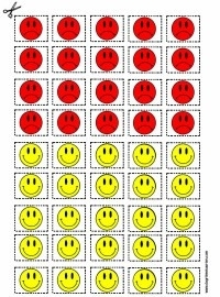 Uitknip blad - Smiley`s