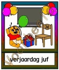Verjaardag juf 2