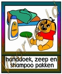 Handdoek, zeep en shampoo pakken - VERZ