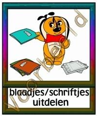 Blaadjes / schriftjes uitdelen - TK