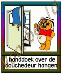 Handdoek over de douchedeur hangen - VERZ