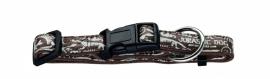 Hunter Fancy Jurassic Halsband met Lijn Bruin 33-52 cm