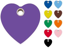 Penning Plastic Hart 10 kleuren