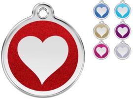 Red Dingo Penning Heart Glitter 7 kleuren