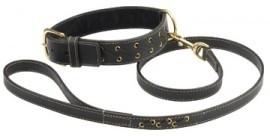 Bobby Lacets Halsband met Riem Zwart 55 cm en 65 cm