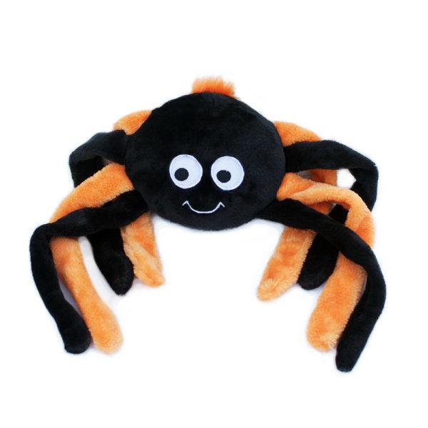 ZippyPaws Halloween Grunter Orange Spider L
