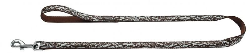 Hunter Fancy Jurassic Halsband met Riem Bruin 33-52 cm en 40-60 cm