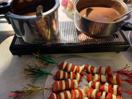 Chocolate Fondue (with crazy walk or belly dance)