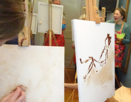 Chocolate Painting with a Nudemodel