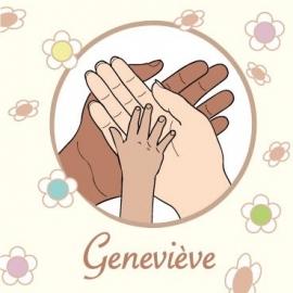 Geboortekaart Genevieve voorkant