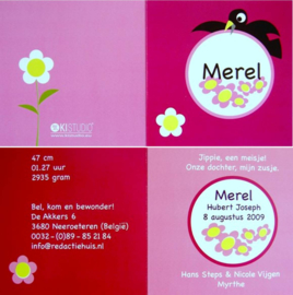 Geboortekaart Merel