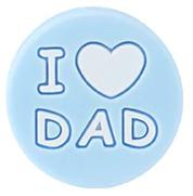 Siliconenkraal I ♥ DAD Babyblauw