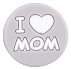 Siliconenkraal I ♥ MOM Grijs