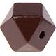 Houtenkraal 18mm Hexagon Bruin