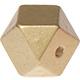 Houtenkraal 18mm Hexagon Goud