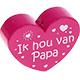 Ik hou van papa Donkerroze