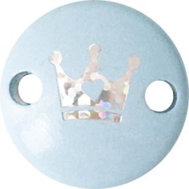 Midiclip Glitterkroontje Babyblauw