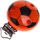 Speenclip Voetbal Donkeroranje