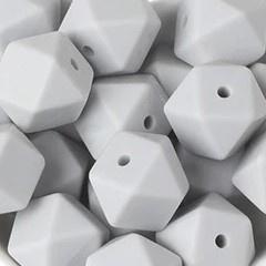 Siliconenkraal Hexagon 14mm Lichtgrijs