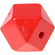 Houtenkraal 18mm Hexagon Rood