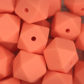 Siliconenkraal Hexagon 14mm Zalmoranje