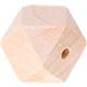 Houtenkraal 18mm Hexagon Lichtblank