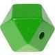 Houtenkraal 18mm Hexagon Groen