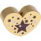 Hartje (XL) Goud met sterretjes