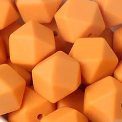 Siliconenkraal Hexagon 14mm Saffraan