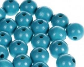 Houtenkraal ø12mm Turquoise