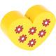 Hartje Groot Geel met bloemetjes