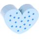 Hartje Groot Babyblauw met stippen