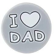 Siliconenkraal I ♥ DAD Grijs