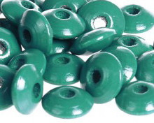 Disckraal ø10mm Donkerturquoise 30st.