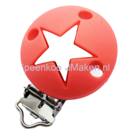 Siliconenclip Rood met ster